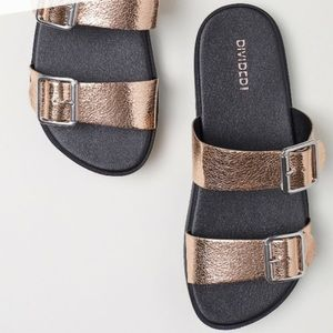 H&M Rose Gold Buckle Sandals